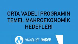 ORTA VADELİ PROGRAMIN  TEMEL MAKROEKONOMİK HEDEFLERİ